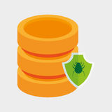 Data server protection virus shield icon. Illustration eps 10 Royalty Free Stock Image
