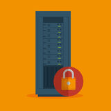 Data server security lock icon. Illustration eps 10 Stock Image
