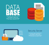 Data server security technology cloud document Royalty Free Stock Photos