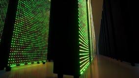 Data servers behind glass panels. Data center. Big data. Super computer.