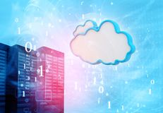 Data servers with cloud servers Stock Image