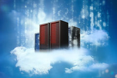 Data servers resting on clouds Royalty Free Stock Photo