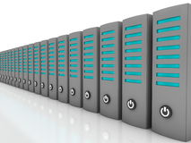 Data servers in a row Stock Photos
