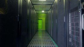 Data servers working. Cloud computing, data storage concept.