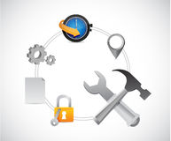Data services tools illustration design. Over a white background Stock Image