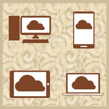 Data share royalty free illustration