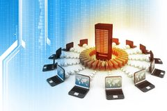Data sharing concept. Technology background Stock Image