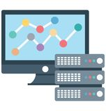 Data sharing, hosting Isolated which can be easily edit or modified stock illustration