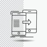 Data, Sharing, sync, synchronization, syncing Line Icon on Transparent Background. Black Icon Vector Illustration. Vector EPS10 Abstract Template background royalty free illustration