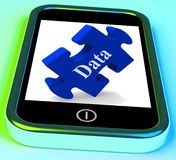 Data Smartphone Means Storing Or Mining Stock Images