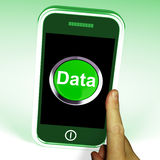 Data Smartphone Shows Documents Information And Cloud Stock Photo