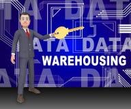 Data som Warehousing tolkningen för Datacenter resurslagring 3d vektor illustrationer