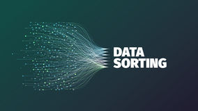Data sorting abstract vector illustration Royalty Free Stock Photography