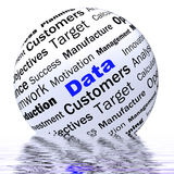 Data Sphere Definition Displays Digital Information Or Database Royalty Free Stock Photos