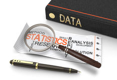 Data statisics Stock Images