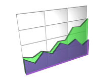 Data Statistics. Database Statistics created in 3D Studios Max Royalty Free Stock Photos