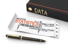 Data statistics Royalty Free Stock Images