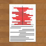 Data statistics document. Business and market trend, vector illustration Stock Photo