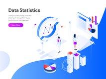 Data Statistics Isometric Illustration Concept. Modern flat design concept of web page design for website and mobile website. vector illustration