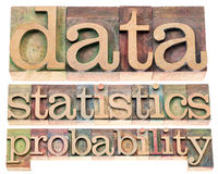 Data, statistics and probability Stock Images