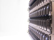 Data Storage. Concept of Safe/Secure Data Storage - Hard Drive Clusters in Storage Area Networks Royalty Free Stock Image