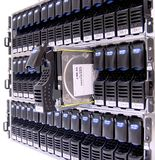 Data Storage. Concept of Safe/Secure Data Storage - Hard Drive Clusters in Storage Area Networks Stock Image