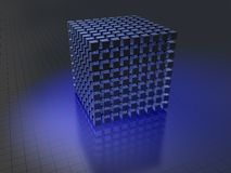 Data storage. 3D-modeled set of cubes representing the notion of data storage Royalty Free Stock Photos