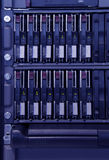 Data storage. Devices in rack Royalty Free Stock Images
