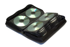 Data storage bag. Storage bag for CD, DVD isolated Royalty Free Stock Photography