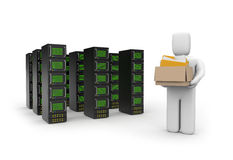 Data storage concept Stock Photo