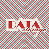 Data Storage Concept on Striped Background. Stock Image