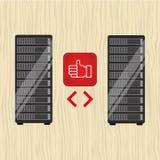 Data storage design Royalty Free Stock Images