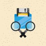 Data storage design. Illustration eps10 graphic Royalty Free Stock Images