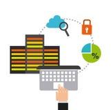 Data storage design Royalty Free Stock Photos