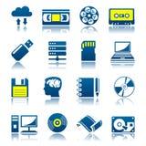 Data storage icon set Royalty Free Stock Images
