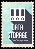 Data Storage on Light Blue in Flat Design. Stock Images