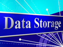 Data Storage Means Hard Drive And Archive Royalty Free Stock Images