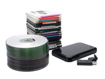 Data storage media Stock Images