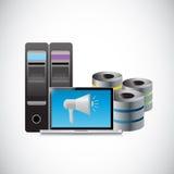 Data storage megaphone illustration design Stock Photos