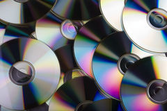 Data storage - multiple CDs overlapping each other Royalty Free Stock Images