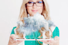 Data storage, new technology concept. Cloud storage Stock Images