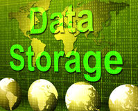 Data Storage Represents Hard Drive And Archive Royalty Free Stock Photos
