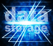 Data Storage Represents Knowledge Filing And Server Royalty Free Stock Images