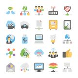 Vector Collection Of Cloud Computing Flat Icons. Data Storage, Server and Transfer  icons for your personal files, entertainment, work, music, movies and more Royalty Free Stock Photos