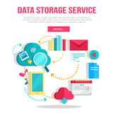 Data Storage Service Banner Stock Images