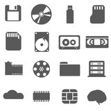 Data storage set Icon Stock Photo
