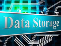 Data Storage Shows Hard Drive And Computer Stock Photo