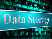 Data Storage Shows Hardware Datacenter And Server Royalty Free Stock Photos