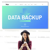 Data Storage Sync Technology Concept. Data Backup Storage Sync Technology Royalty Free Stock Image