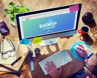 Data Storage Sync Technology Concept Stock Photography
